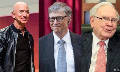 Jeff Bezos Bill Gates and Warren Buffet