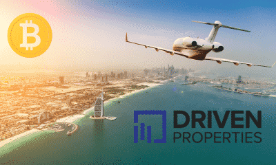 Dubai's Driven Properties Announces Payment Option in Bitcoin and Cryptocurrencies