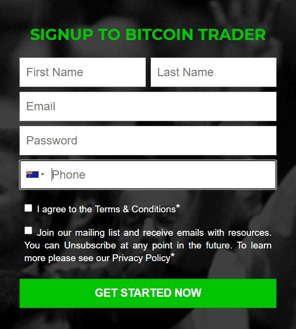 Bitcoin Trader - Registration